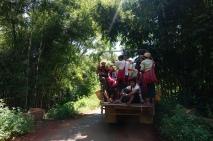 Een typisch beeld tijdens de trekking